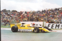 "RENAULT TURBO F1 Jabouille French GP 1979 poster 35x24"" ( 910x610mm)"